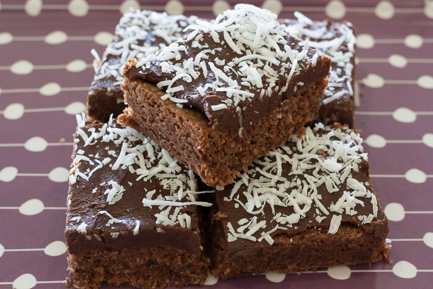 Chocolate Coconut Slice Cath S Cookery Creations